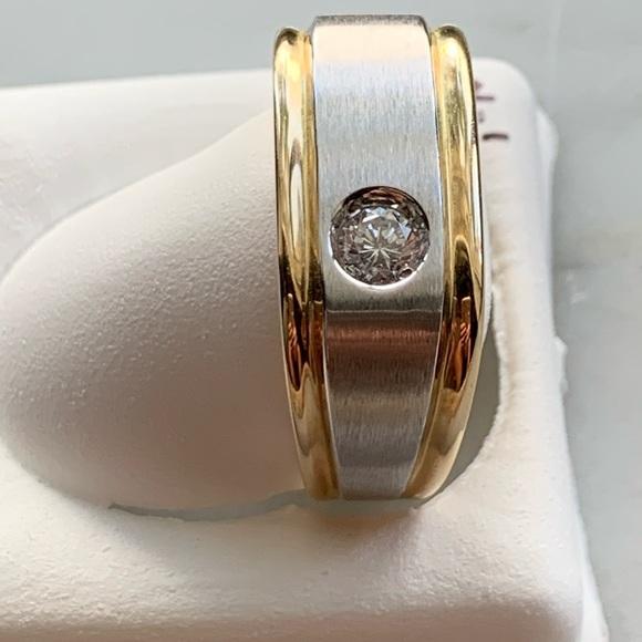IB Goodman Other - NEW 14KTT Mens Heavy Duty Diamond Ring